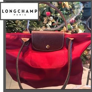 Longchamp Le Pliage Small Handbag NWOT RED